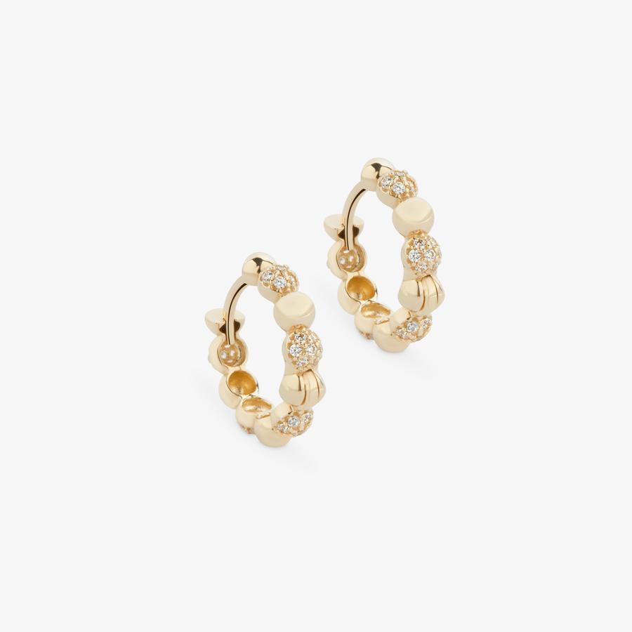- Sarı Altın Tasarım Küpe (1)