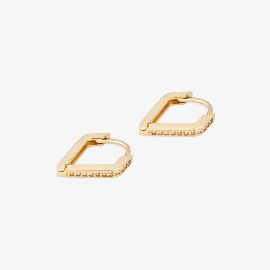 - Sarı Altın Tasarım Küpe