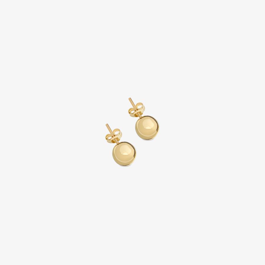 - Sarı Altın Sade Küpe